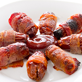 BBQ Bacon-Wrapped Dates
