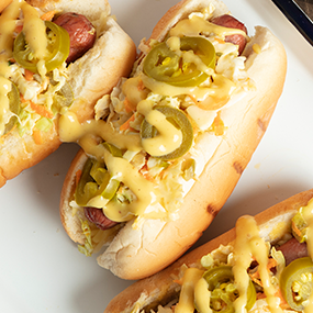 Honey Mustard Slaw Dog