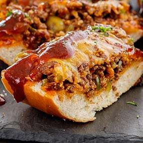 Spicy French Bread Boats
