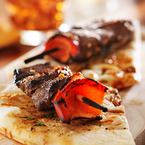 Honey Teriyaki Sirloin Tip Kabobs